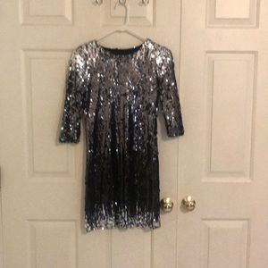 Silver/ black ombré sequined B.B. DAKOTA dress